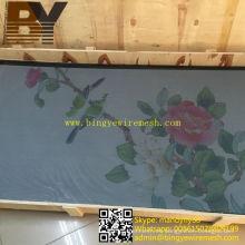 Malla de ventana de pantalla de seguridad revestida de polvo