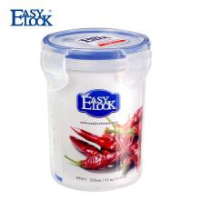 Petit récipient de nourriture clair en plastique de cylindre avec le couvercle 325ML / 10oz