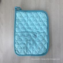 Heat Resistant Everyday Kitchen Basic Custom Printed cotton blue mitten