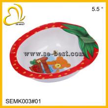 Strawberry shape 100% melamine bowl for kids