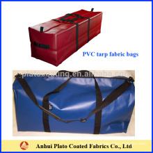 customized pvc tarpaulin travelling zipper open duffle bag