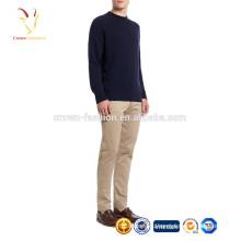 Высокое качество кашемировый мужской пуловер простой узор вязать свитер