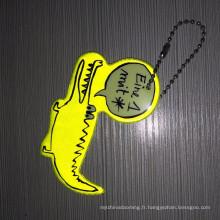 Chine nouveau design réflecteur promotionnel personnalisé réflecteur souple PVC porte-clé