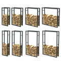 Removable Storage Shelf Metal Indoor Firewood Rack