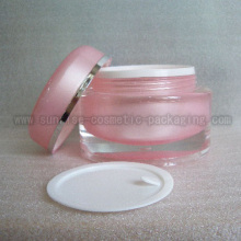 50g Pink Round Shape Cosmetic Packaging Jar