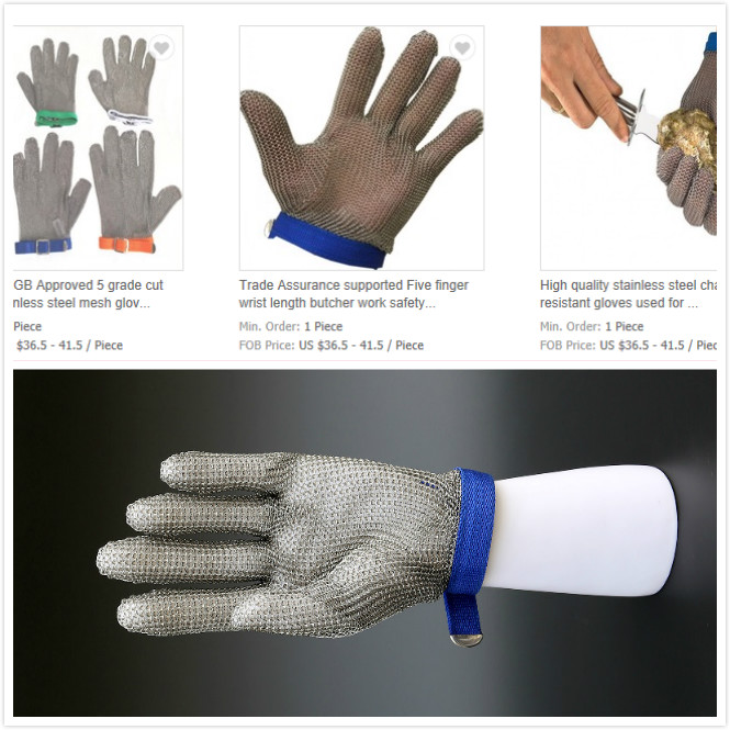 Ring Mesh Gloves Five Finger
