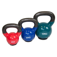 Wholesale 4-32kg Vinyl Kettlebell with Rubber Base