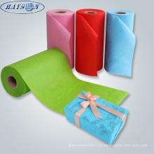 papel de envolvimento de presente não tecido do xmas da tela do Natal da impressão feita sob encomenda