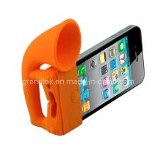 Do silicone Horn Stand amplificador alto-falante para iPhone 5 novo estilo