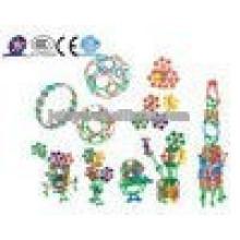 JQ1101 Beste Weihnachtsgeschenke Kinder ungiftig pädagogischen Diy Intelligent Plastic Baustein Spielzeug