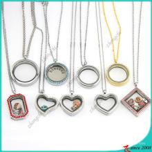 Горячий продавая стеклянный медальон Wholeale ожерелье (FL16041214)