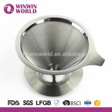 Fabricant de café accessoires # 304 en acier inoxydable 4 tasse café goutte à goutte Scoop