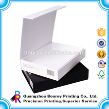 Logo Gold / silver foil Impresión personalizada del paquete de cajas de cartulina