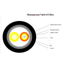Cable blindado de fibra óptica multimodo 2 núcleos