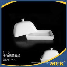 special design royal elegant ceramic butter lid set for restaurant