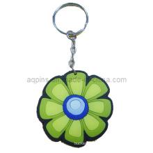 Hochwertige weiche PVC-Schlüsselkette mit Blumen-Logo (KC-08)