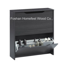 Wooden 2 Revolving Drawers Combi Shoe Cabinet (SC07)