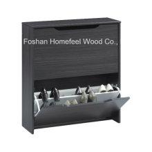 Gabinete de sapato Combi de 2 gavetas giratórias de madeira (SC07)