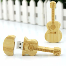 Gift Wood Guitar USB flash Drive met koffer