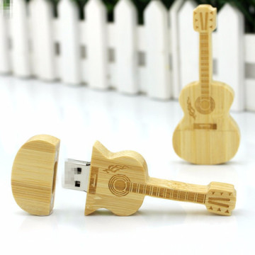 Presente Madeira Guitarra USB Flash Drive com Case