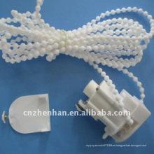 Unidad de control romana de la cortina del color blanco con la cadena y la tapa de la cortina, accesorio de la cortina, piezas romanas de la cortina