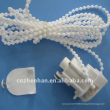 Unidade de controle da cortina romana branca da cor com corrente da cortina & tampa de extremidade, acessório da cortina, peças romanas da máscara