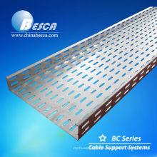 Bandeja de cable galvanizada por inmersión en caliente (UL, cUL, SGS, IEC, CE, ISO)