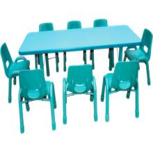 Mesa de crianças de mobiliário de jardim de infância e cadeira para secretária de escola