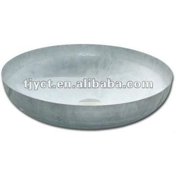 elliptical stainless steel head