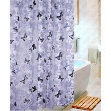 Water Proof 100% cortina de ducha de poliéster impreso