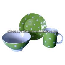 Conjunto de café da manhã de cerâmica