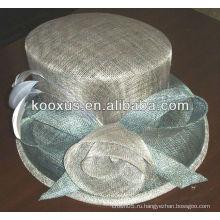 Новый дизайн широкие brim шикарный Sinamay шлемы Свадебный Hat Hat Hat для для гонок / Кентукки Дерби