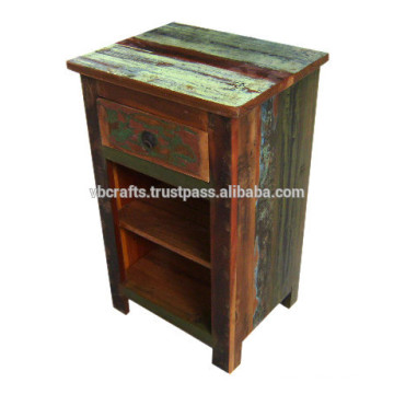 recycled wood night stand
