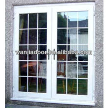 Foshan unique upvc french doors/double swing door designs