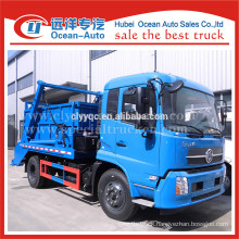 dongfeng kingrun 8cbm capacity of swing container garbage truck