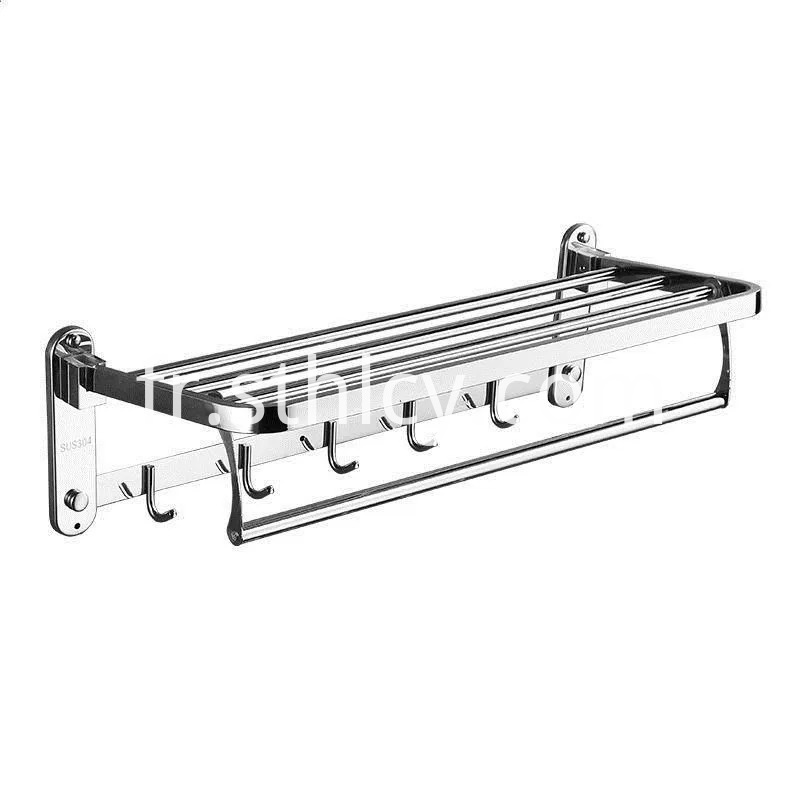 304 Stainless Steel Towel Racks With Hooks