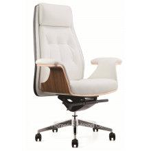 Mobilier de bureau moderne Chaise de direction en cuir pivotant haut de dos (HF-CH187A)