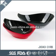 Tazón de porcelana snack JX-31R, tazón de porcelana blanca, tazón de color