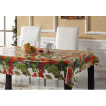 Decoratived PVC Printed Transparent Table Cloth