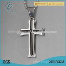 Aço inoxidável mens colares cruz celta cruz atacado