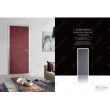 Porta de madeira cinzelada barata da mão, portas interiores baratas de MDF