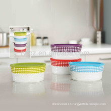 microwave safe stackable food casserole with silicone lid