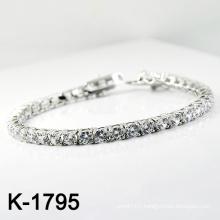 Fashion Silver Micro Pave CZ Setting Jewellery Bracelet (K-1795. JPG)