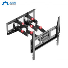 Custom LCD TV wall mount bracket with vertical adjustment