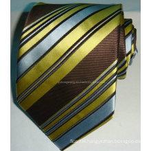 Men Silk Woven Jacquard Stripe Necktie