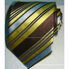Cravate en similicuir en soie en jacquard en soie