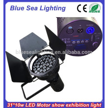 31x10w led pure white car exhibition/motor show par light