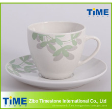 Taza de té y platillo al por mayor a granel