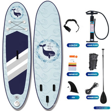 best 2021 Factory Drop Stitch Material Transparent Stand UP Paddle Board Inflatable SUP Paddle board Pump