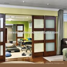Deslize a porta System, sistema de porta deslizante de vidro, guarda-roupa sistema de porta deslizante